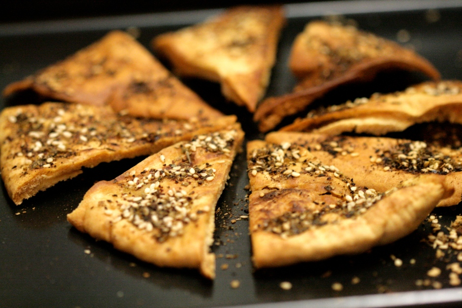 Za'atar spiced pita chips